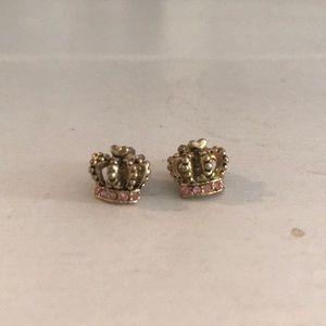 Juicy couture crown earrings
